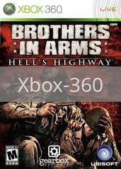 Image of Brothers in Arms Hell's Highway original video game for Xbox 360 classic game system. Rocket City Arcade, Huntsville Al. We ship used video games Nationwide