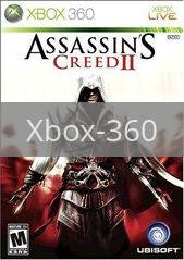 Image of Assassin's Creed II original video game for Xbox 360 classic game system. Rocket City Arcade, Huntsville Al. We ship used video games Nationwide