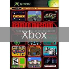 Image of Namco Museum 50th Anniversary original video game for Xbox classic game system. Rocket City Arcade, Huntsville Al. We ship used video games Nationwide