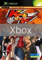 Image of King of Fighters Maximum Impact Maniax original video game for Xbox classic game system. Rocket City Arcade, Huntsville Al. We ship used video games Nationwide