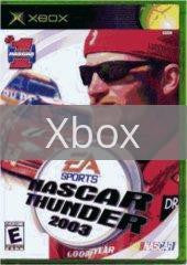 Image of NASCAR Thunder 2003 original video game for Xbox classic game system. Rocket City Arcade, Huntsville Al. We ship used video games Nationwide