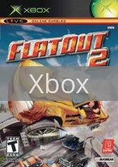 Image of Flatout 2 original video game for Xbox classic game system. Rocket City Arcade, Huntsville Al. We ship used video games Nationwide