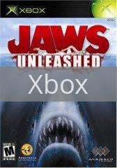 Image of Jaws Unleashed original video game for Xbox classic game system. Rocket City Arcade, Huntsville Al. We ship used video games Nationwide