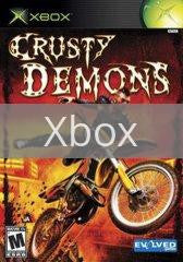 Image of Crusty Demons original video game for Xbox classic game system. Rocket City Arcade, Huntsville Al. We ship used video games Nationwide