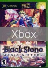Image of Blackstone Magic and Steel original video game for Xbox classic game system. Rocket City Arcade, Huntsville Al. We ship used video games Nationwide