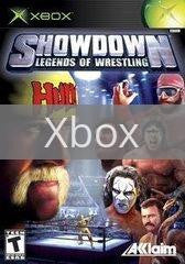 Image of Showdown Legends of Wrestling original video game for Xbox classic game system. Rocket City Arcade, Huntsville Al. We ship used video games Nationwide