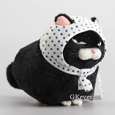 Hige Manjyu Maekake Cat Collection 8 Inch Plush