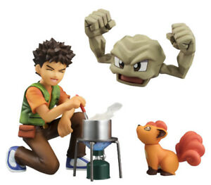 Pokemon Brock, Geodude & Vulpix Figure 6 inch