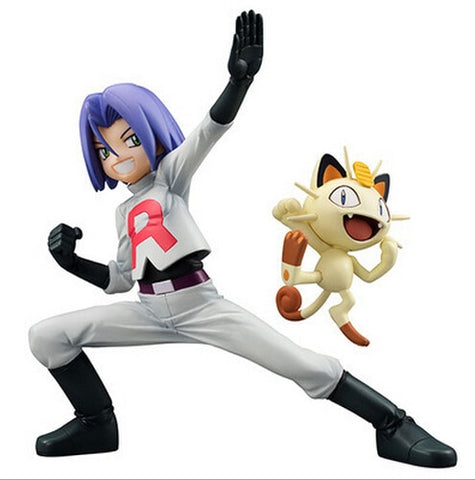 Pokemon Team Rocket James & Meowth figure 6 inch