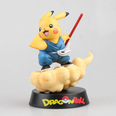 Pikachu Cosplay DragonBallZ Cloud Somersault Blue figure 8 inch With Box