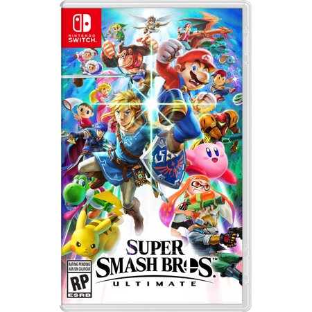 Super Smash Bros Ultimate Game Plus 4-Port Adapter Bundle