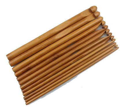 12-Piece Bamboo Crochet Hook Set [FREE + Shipping]