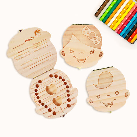 Eco-friendly Baby Teeth Organizer Box