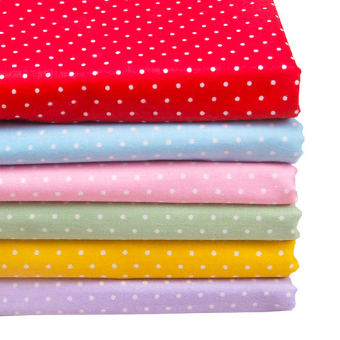 Polka Dot Cotton Fabric Bundle (Assorted Colors)