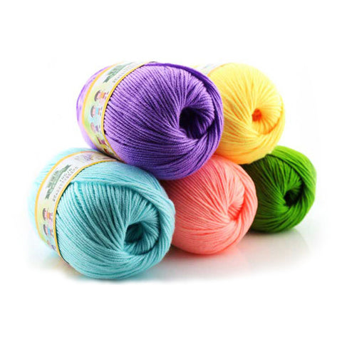 Soft Cotton/Silk Blend Baby Yarn