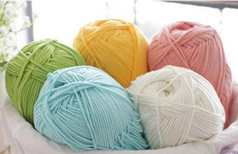 Soft Milk Cotton Baby Yarn (92 Colors) [BULK]