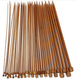 40-Piece Bamboo Single Pointed Knitting Needles Set