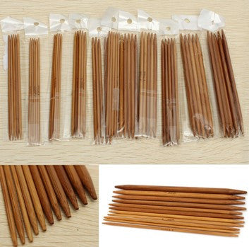 55-Piece Bamboo Double Pointed Knitting Needles Set (Small)