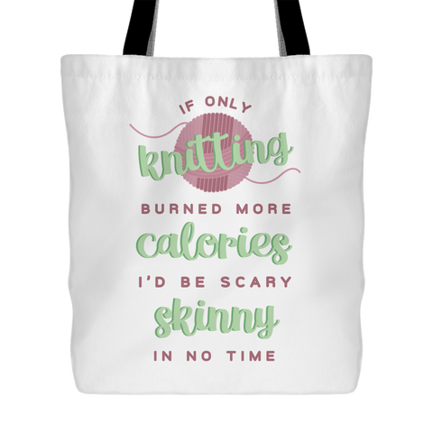 Exclusive Skinny Knitting Tote Bag