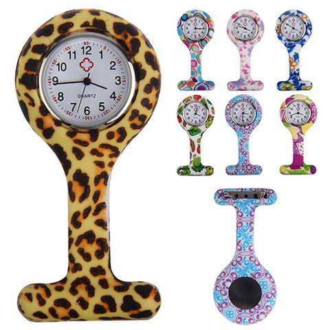 Fun Patterned Silicone Nurse Fob Watch