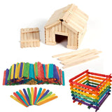 Wooden Popsicle Sticks (Multiple Colors & Sizes)