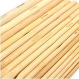 16-Piece Bleached Bamboo Crochet Hook Set