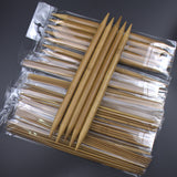 75-Piece Bamboo Double Pointed Knitting Needles Set