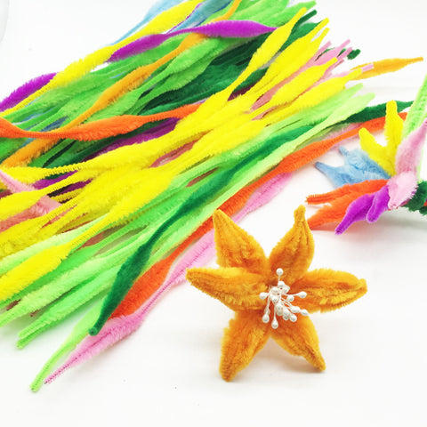 Multi-Colored Wave Craft Pipe Cleaners