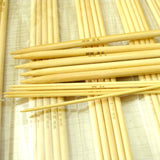 75-Piece Bleached Bamboo Double Pointed Knitting Needle Set