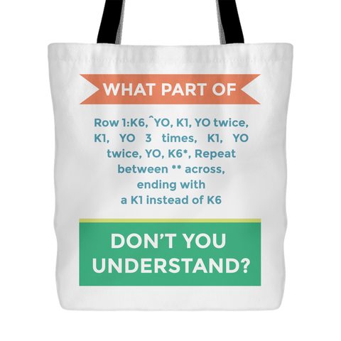 Exclusive Knitting Pattern Tote Bag