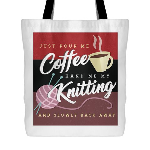 Exclusive Knitting & Coffee Tote Bag