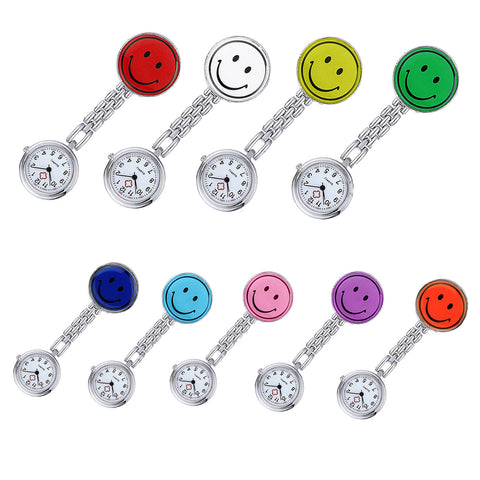Smiley Stainless Steel Fob Watch