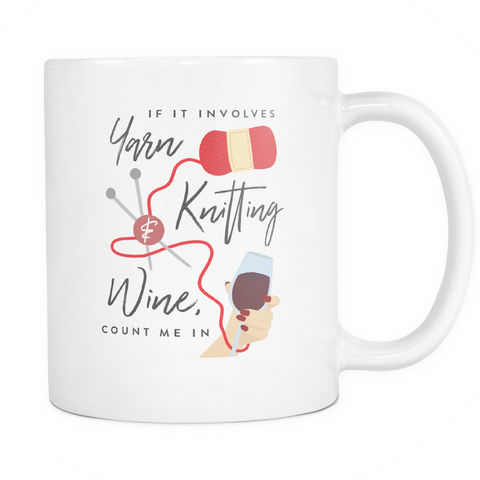 Exclusive Yarn, Knitting & Wine Mug (Standard)