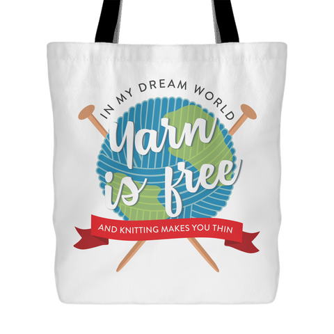 Exclusive Dream World Knitting Tote Bag
