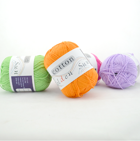 Colorful Pure Cotton Baby Yarn