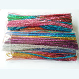 Multi-Colored Tinsel Craft Pipe Cleaners