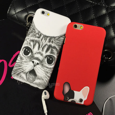 Lovely Cartoon Dog or Cat iPhone Case
