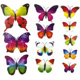 12-Piece 3D Butterfly Wall Sticker Set