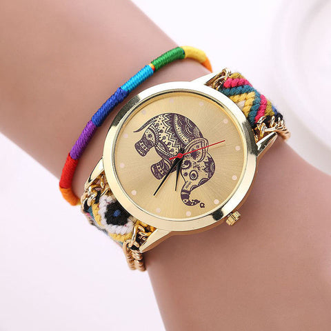 Charming Elephant Weave Watch
