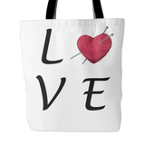 Exclusive Love Knitting Tote Bag