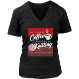 Exclusive Coffee & Knitting Women's V-Neck Shirt