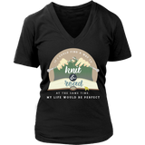 Exclusive Knitting & Reading Women's V-Neck Shirt