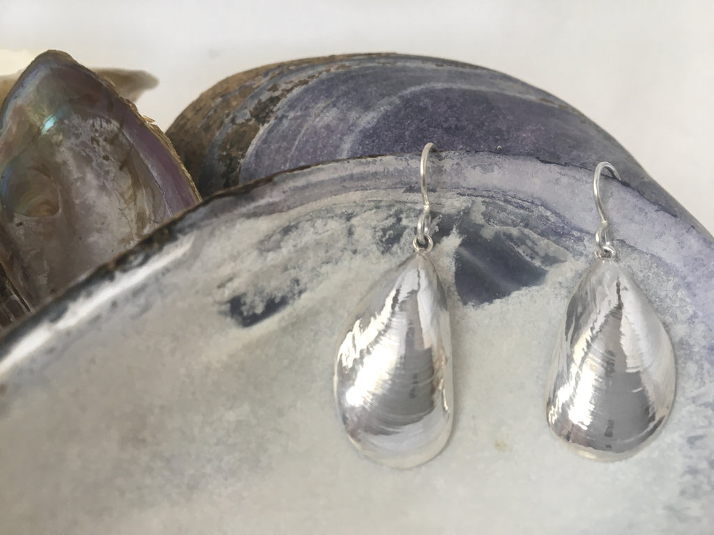 Large Mussel Dangle Earrings