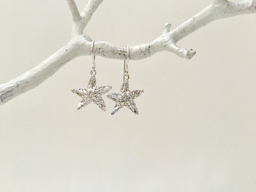 Large Starfish Dangle Earrings