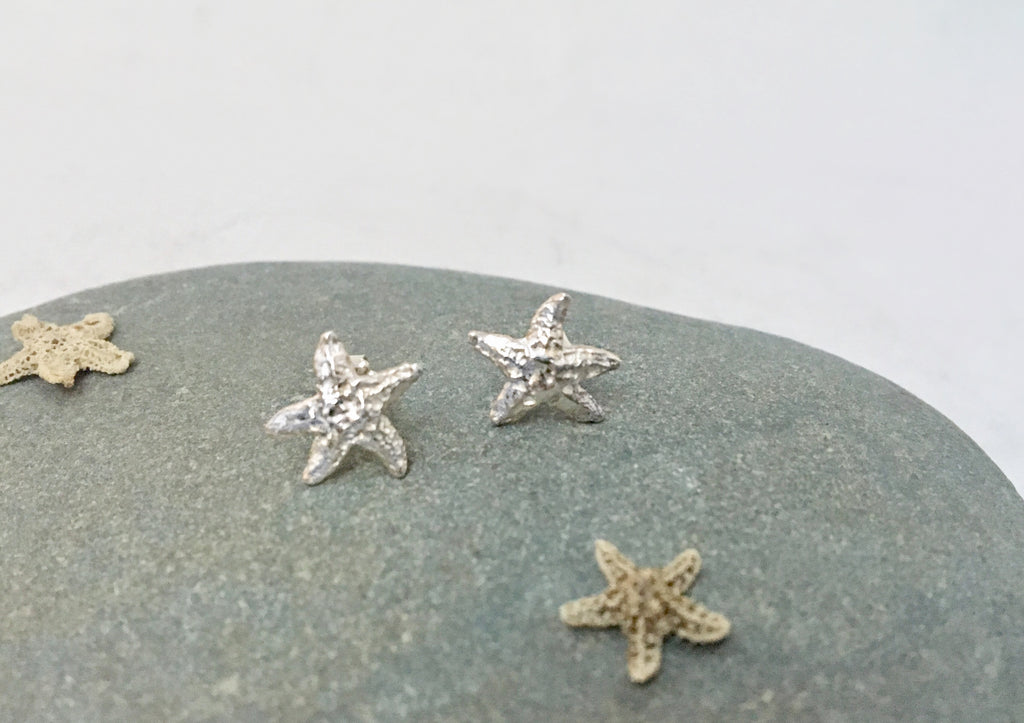 Tiny Starfish Stud Earrings