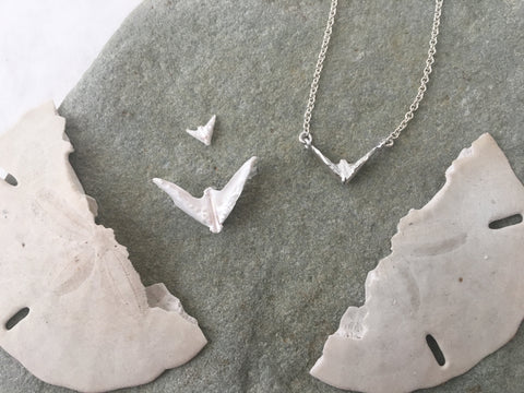 Sand Dollar Dove Necklace