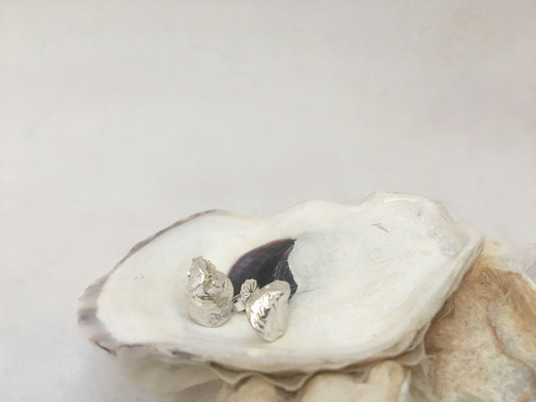 Baby Oyster Stud Earrings