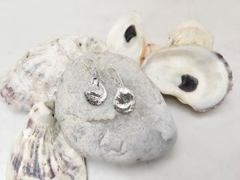 Two Halves Oyster Dangle Earrings