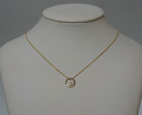 Tiny Floating Wave Necklace