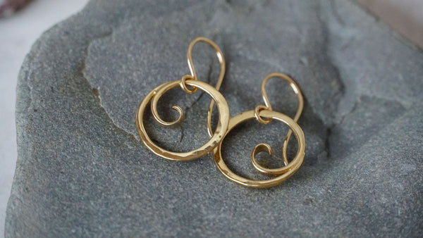 Floating Wave Earrings
